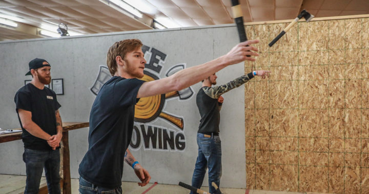 Bowling with an 'edge': Ax-throwing comes to Candlelite