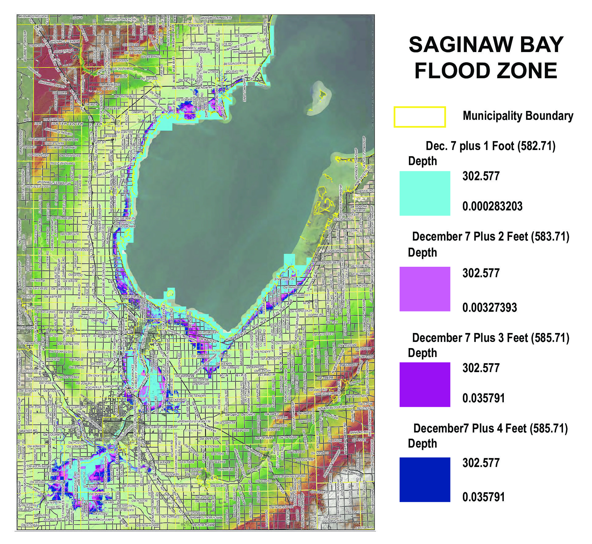 Water, water everywhere: County officials brace for rising water levels on Great Lakes, Saginaw Bay
