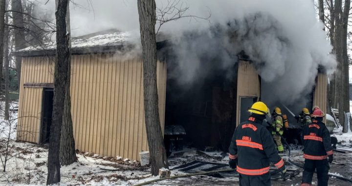 Firefighters: Arbela farmer's shed, equipment lost to blaze