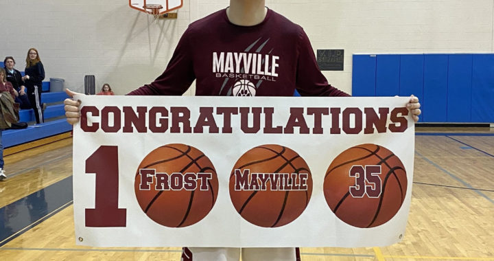Mayville senior Frost hits a 'cool' 1000 points