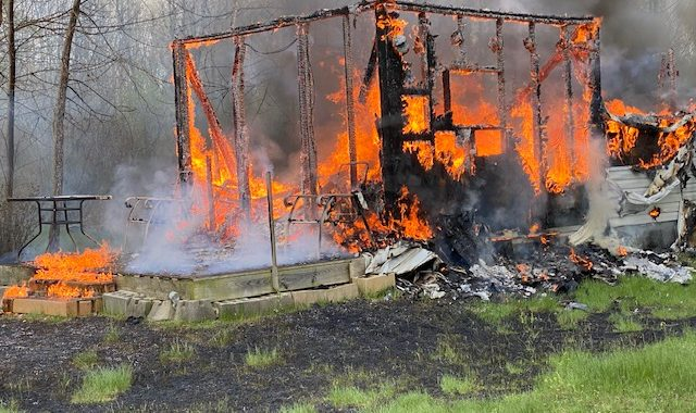 Fire destroys cabin