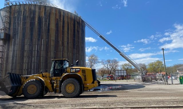 Michigan Sugar silo continues to smolder