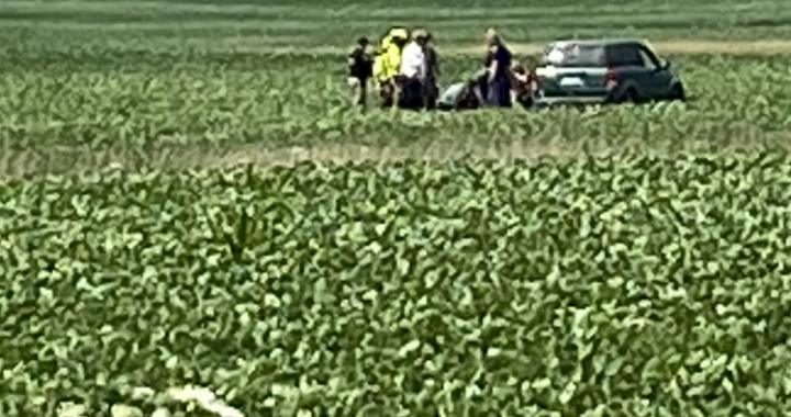 Man drives deep into field after medical emergency