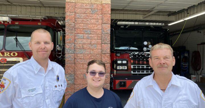 Three generations man local fire station