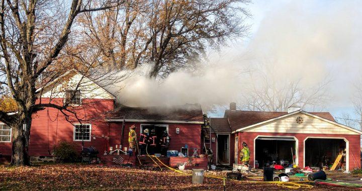 Fire strikes home south of Fostoria