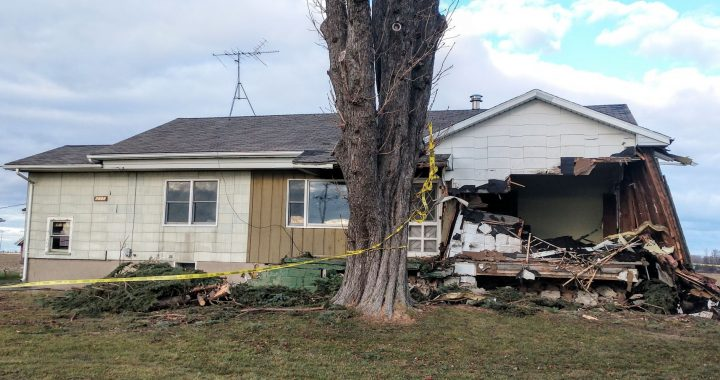 Poopy predicament: Manure-hauling dump truck smashes house