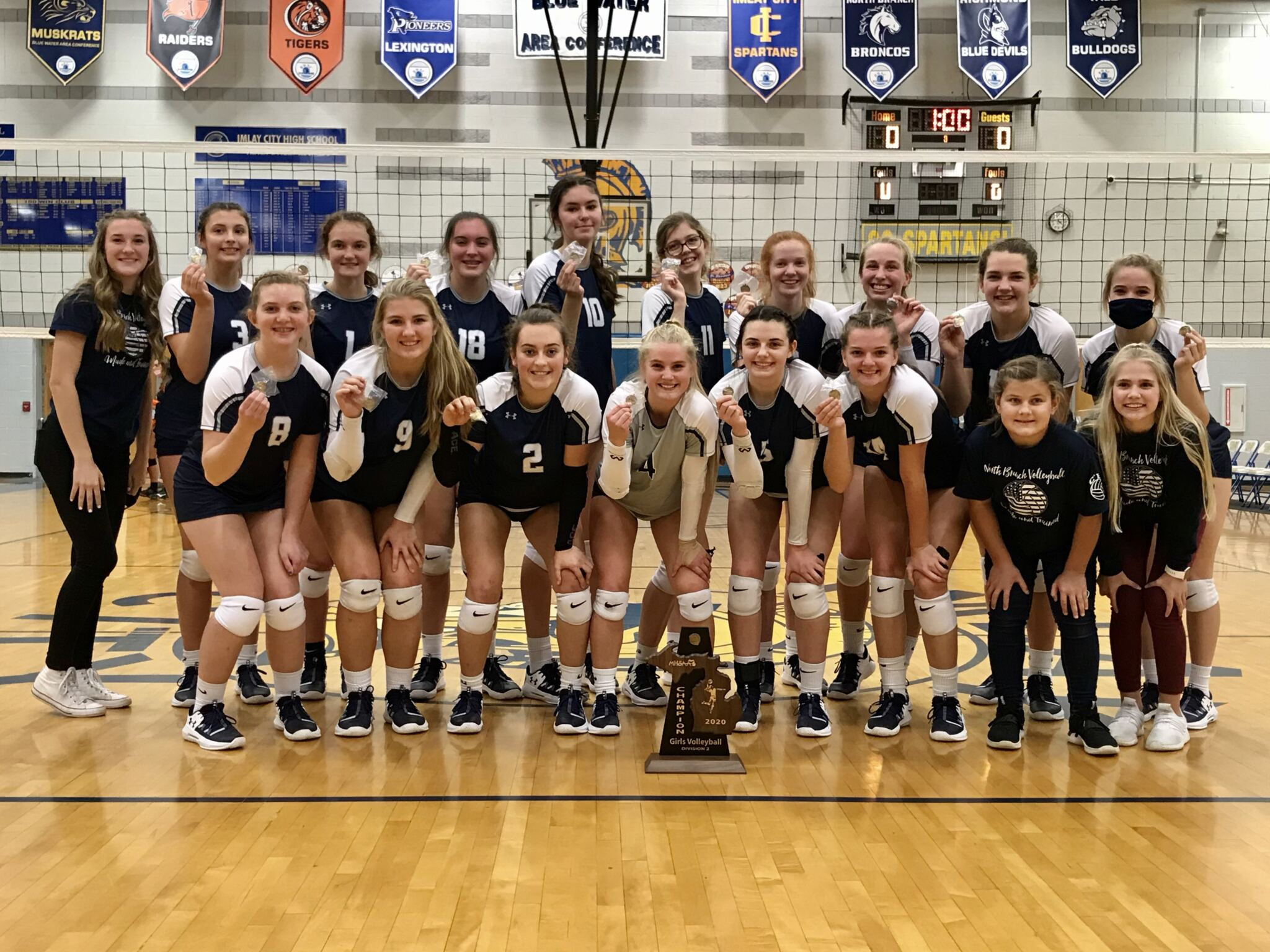 High school volleyball district results