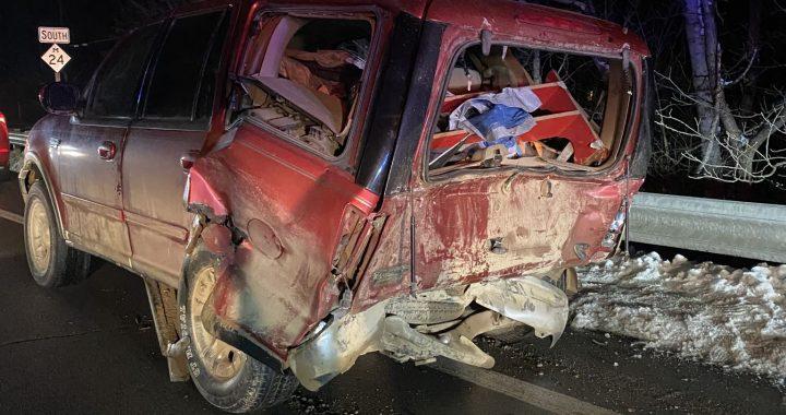 Four injured in Tuesday crash
