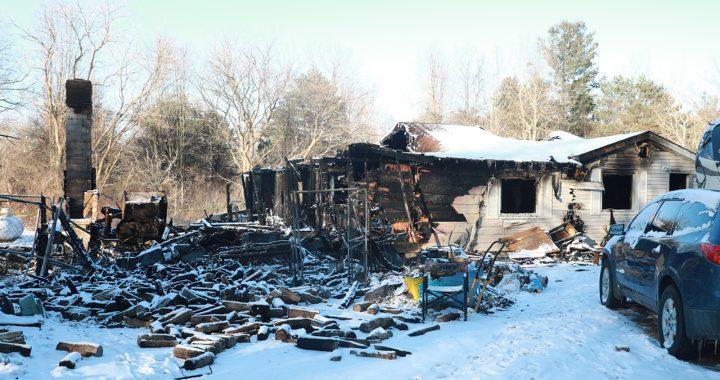 Woman dies, husband hurt in fire near Vassar