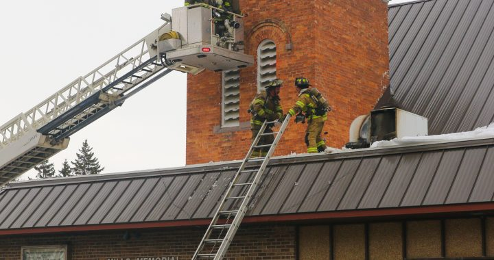 Fire at Mayville church does 'very minimal' damage