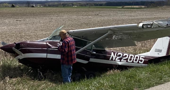 Pilot uninjured in emergency landing