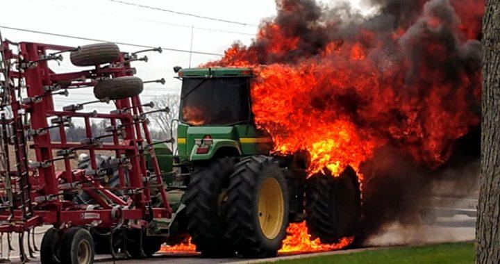 Tractor fire startles Munger dwellers