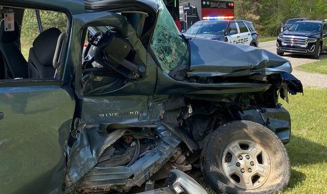 Driver injured in Sunday crash