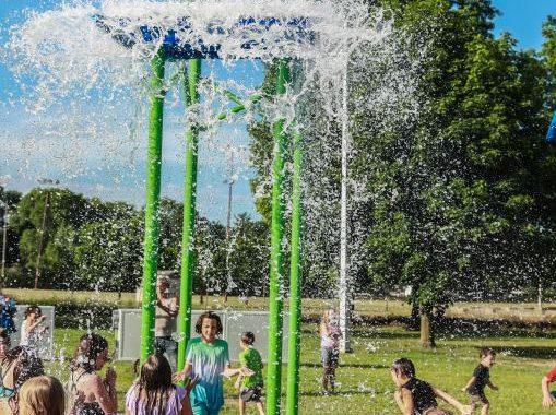 Splash pad makes a super-soaked debut