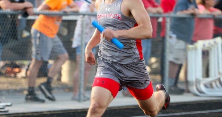 Gold mining: Frankenmuth's Barger earns four golds, named male Athlete of the Meet