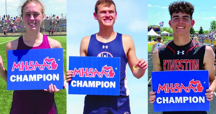 At the top: Beckrow, Alderson and Lemke win individual state championships