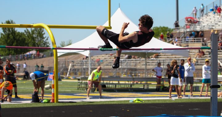 Lemke leaps to gold in first track season
