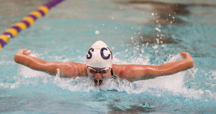 Caro swim-and-dive ends home schedule, honors seniors