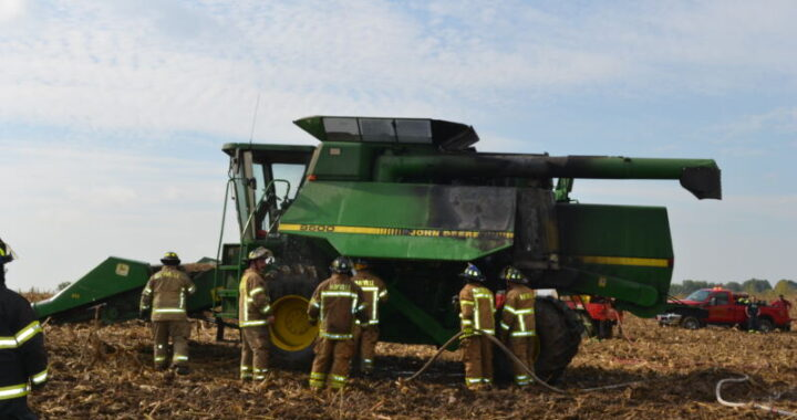 Farmer's quick thinking keeps combine fire from spreading